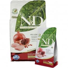 N&D Huhn&Granatapfel für kastrierte Katzen getreidefrei 1,5kg + 300g GRATIS!