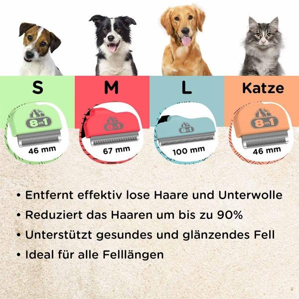 8in1 Unterfellbürste Perfect Coat DeShedder Hund