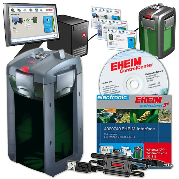 Eheim Außenfilter professionel 3e 2078 + USB-Aquarium Interface