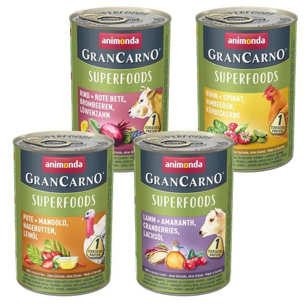 Animonda GranCarno Superfood Mixpaket 24x400g