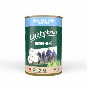 Christopherus Hundemenü Junior Huhn, Reis und Apfel
