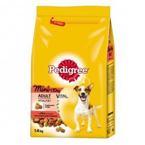 Pedigree Hundefutter Adult Mini mit Rind und Gemüse 1,4kg