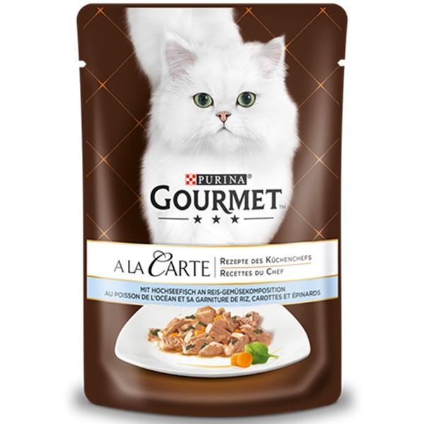 Gourmet A la Carte Hochseefisch an Reis-Gemüsekomposition 24x85g