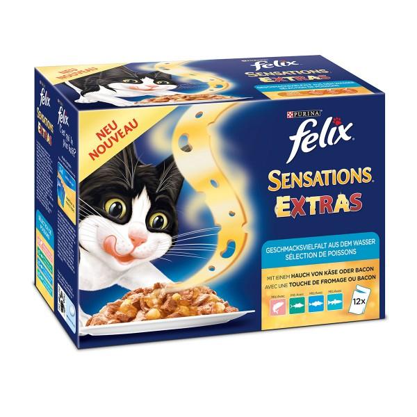 Felix Sensations Extras Geschmacksvielfalt aus dem Wasser Multipack 12x100g