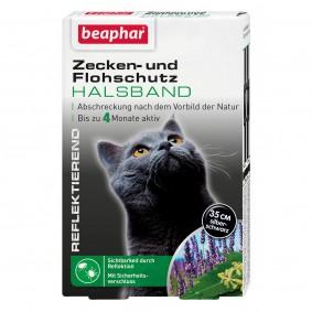 beaphar reflexní obojek proti klíšťatům a blechám pro kočky, 35 cm