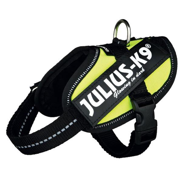Julius-K9 Hundegeschirr IDC neongelb für kleine Tiere