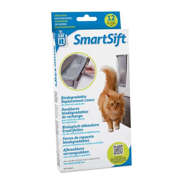 Catit SmartSift biologisch abbaubare Ersatzfolie für die Abfallwanne 12er Pack