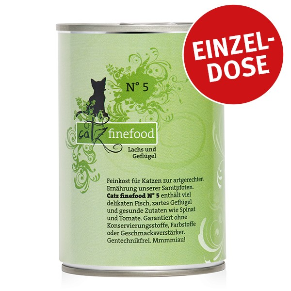 CATZ Finefood Katzen Nassfutter No. 5 Lachs 400g