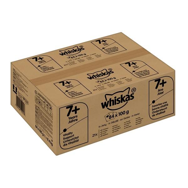 Whiskas 7+ Fisch- und Geflügelauswahl Multipack 84x100g