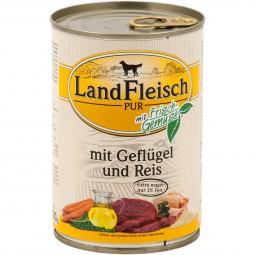 Landfleisch Hundefutter Dog Pur Geflügel & Reis extra mager