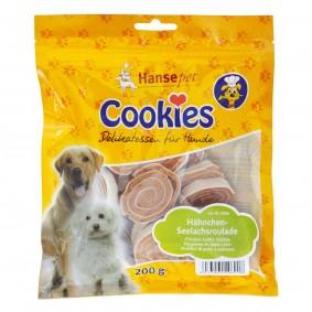 Hansepet Hundesnack Cookies Delikatess-Hähnchen-Seelachsroulade 200 g