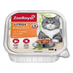 ZooRoyal Katzen-Nassfutter Senior Ragout mit 3 Sorten Geflügel