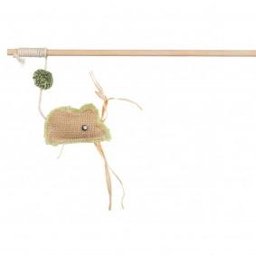Trixie Spielangel mit Jutemaus 24cm