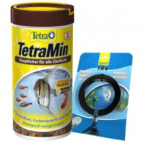 TetraMin Normalflocken Fischfutter + Tetra FR 6 Futtering