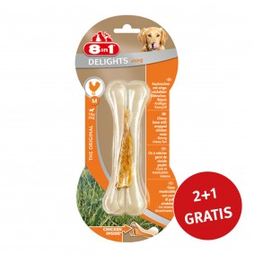 8in1 Delights Kauknochen Strong M 2+ 1 GRATIS