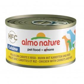 Almo Nature HFC Cuisine Dog Huhn mit Karotten und Reis 95g 5+1 gratis