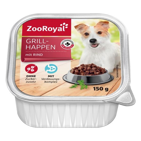 ZooRoyal Hunde-Nassfutter Grillhappen mit Rind ...