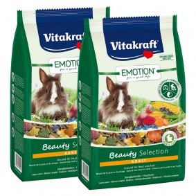Vitakraft Emotion Beauty Selection Adult Zwergkaninchen 2x1,5kg