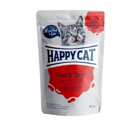Happy Cat Pouches - Meat in Sauce Adult Kalb & Leber