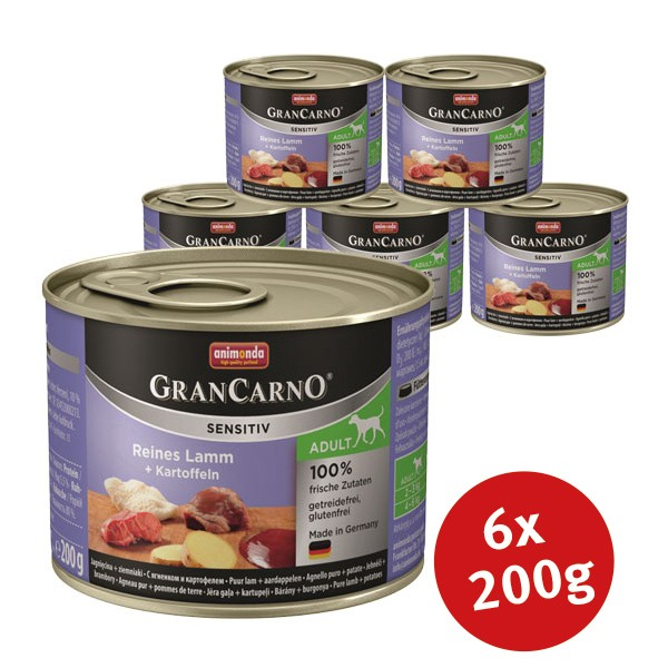 Animonda Hundefutter Grancarno Sensitiv Lamm & Kartoffel