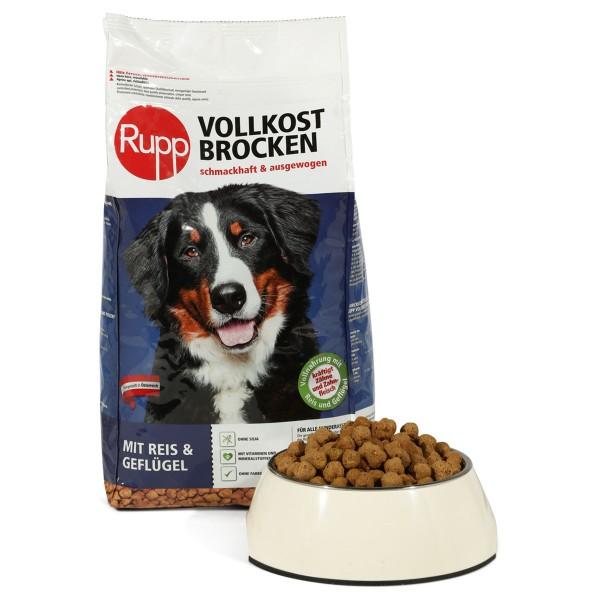 Rupp Hundefutter Vollkostbrocken mit Reis & Gef...
