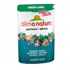 Almo Nature Katzenfutter Green Label Raw Pack 55g
