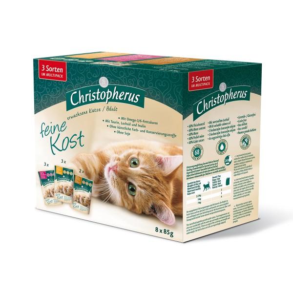 Christopherus Katzenfutter 8er Multipack 680g