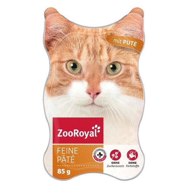 ZooRoyal Katzen-Nassfutter Feine Pâté mit Pute
