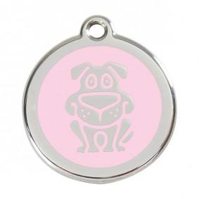Ruhland Angebote Red Dingo Hundemarke ´´Dog´´ - Pink L = 38mm Ø