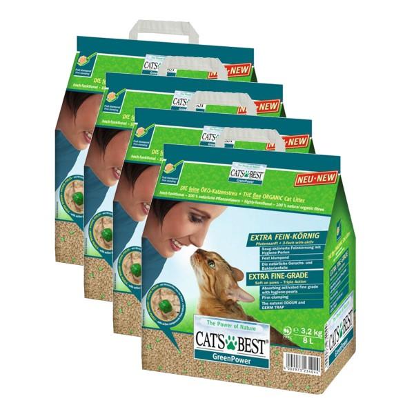 Cat's Best Katzeneinstreu Green Power 4x8l