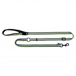 Trixie Joggingleine, 1,33–1,80 m/20 mm, grau/grün