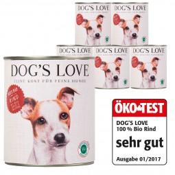 Dog's Love Bio Rind mit Reis, Apfel & Zucchini 800g 11 plus 1