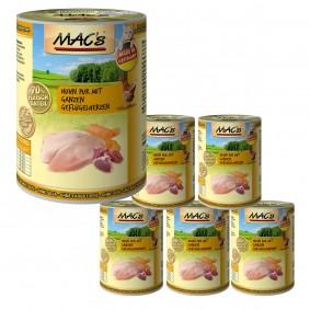 MAC's Cat Huhn Pur mit ganzen Geflügelherzen 6x400 g