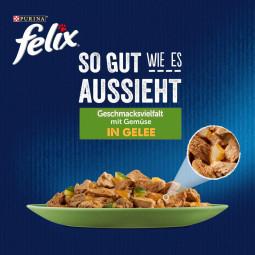 FELIX So gut wie es aussieht in Gelee Geschmacksvielfalt mit Gemüse 24x85g