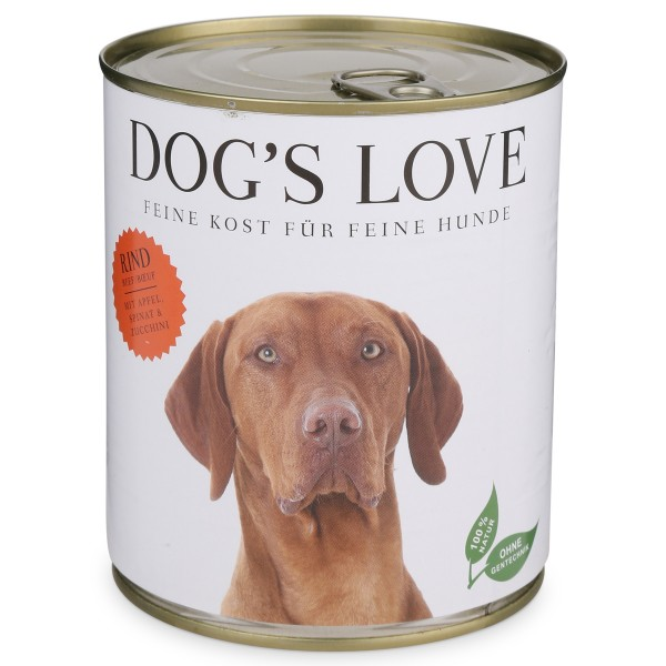 Dog's Love Nassfutter Classic Rind mit Apfel, Spinat & Zucchini