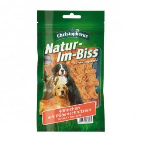 Christopherus Hundesnack Natur-Im-Biss Hähnchen mit Rübenschnitzeln 60g