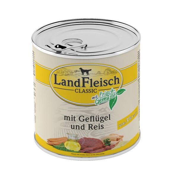 Landfleisch Nassfutter Dog Pur Geflügel & Reis extra mager
