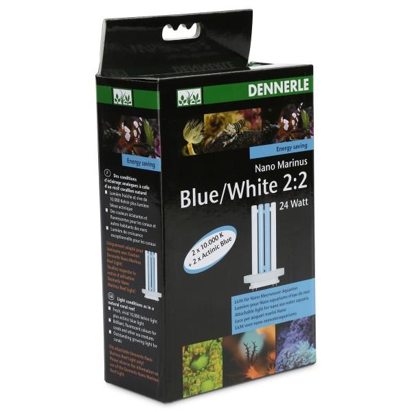 Dennerle Nano Marinus Blue/White 2:2 - 24 Watt