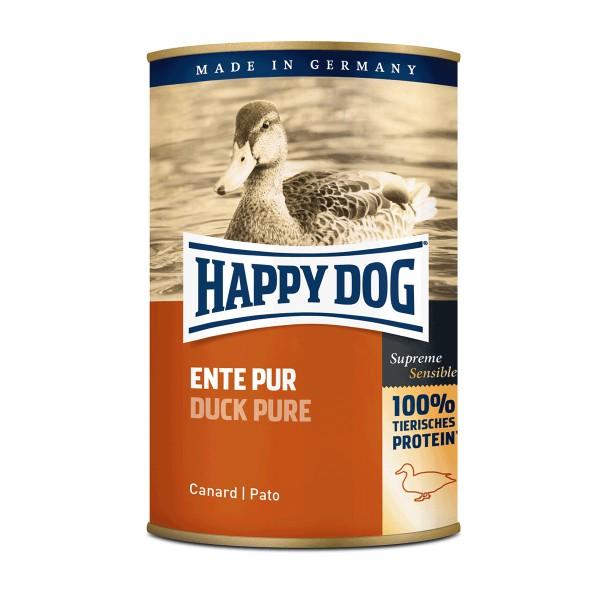 Happy Dog Hundefutter Ente pur - 12x400g
