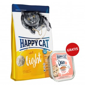 Happy Cat Supreme Adult Light 300g plus Paté Geflügel & Lachs 100g