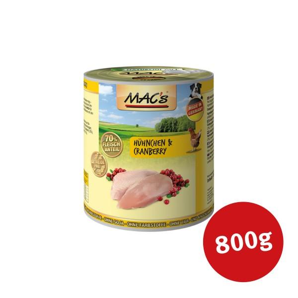 MAC's Dog Hunde-Nassfutter Hähnchen und Cranberry