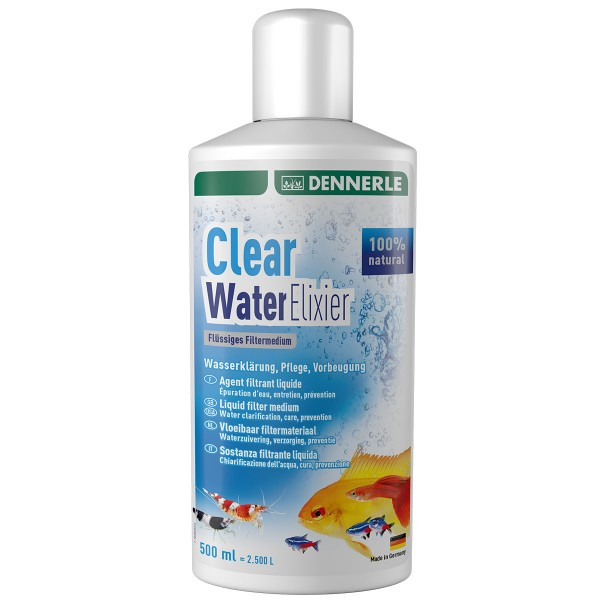 Dennerle flüssiges Filtermaterial Clear Water Elixier - 500 ml