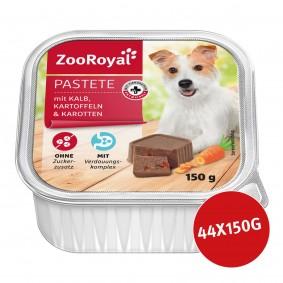 ZooRoyal Hundefutter Pastete mit Kalb, Kartoffel & Karotten 44x50g
