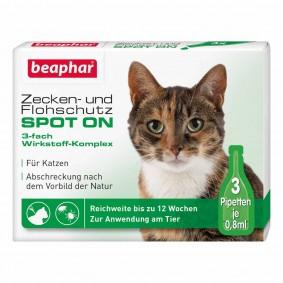 Beaphar SPOT-ON ochrana proti blechám a klíšťatům pro kočky