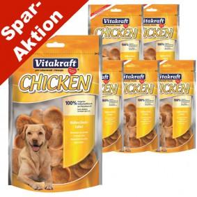 Vitakraft Hundesnack Chicken Hühnchentaler 5x80g + 1x80g gratis