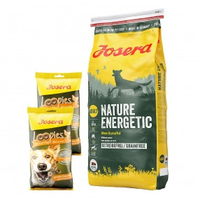 Josera Nature Energetic 15kg + Loopies Geflügel 2x150g