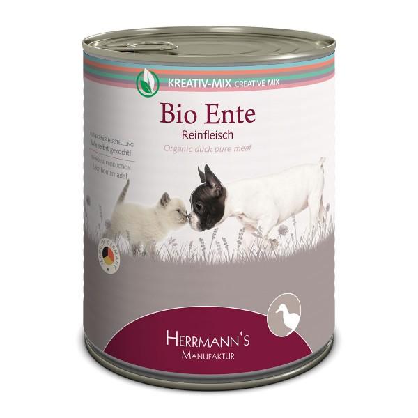 Herrmanns Bio Hunde- und Katzen-Ergänzungsfutter 100% Ente 6x800g