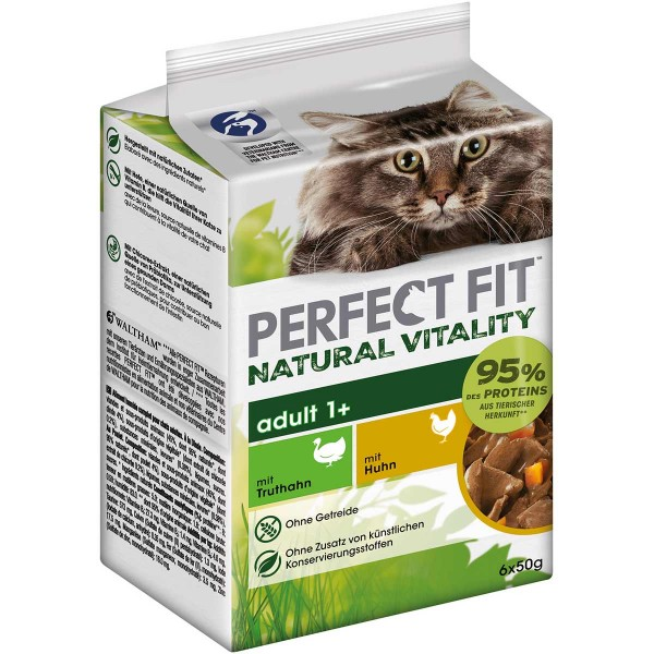 PERFECT FIT Katze Natural Vitality Adult 1+ mit Truthahn und Huhn