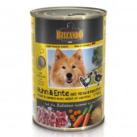 Belcando Feuchtnahrung Huhn & Ente mit Hirse & Karotten 6x400g 5+1 GRATIS