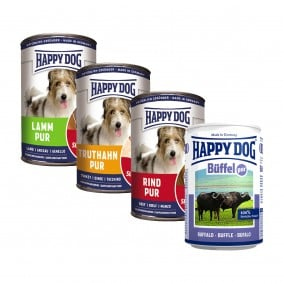 Happy Dog Nassfutter Probierpaket 12x400g